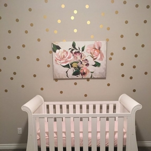 Colourful Polka Dot Wall Decals - Nursery Stickers