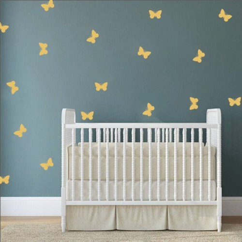 Butterflies Simple Shapes Wall Stickers