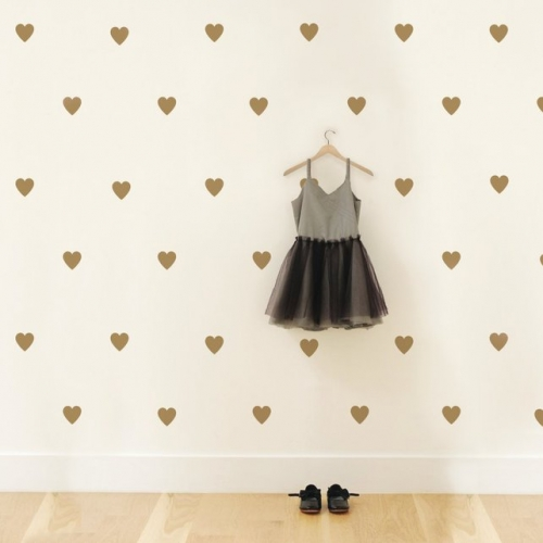 Love Baby Hearts Pattern Wall Decal
