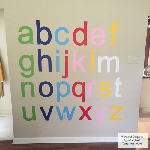 Kid's Alphabet Letters Wall Decal