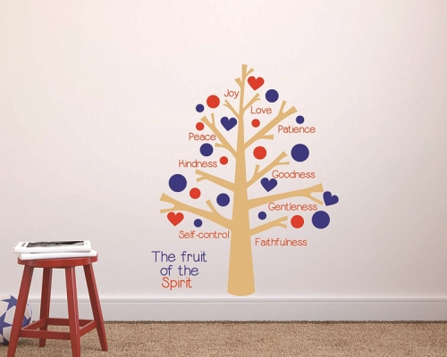 Fruit of the Spirit Tree Wall Decal Sticker