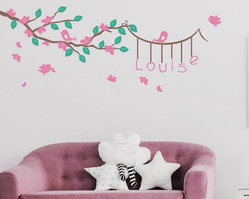 Branch With  Custom Name Wall Decals