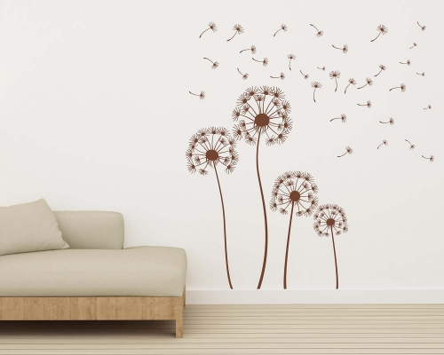 Dandelions Sets In The Wind Wall Decal
