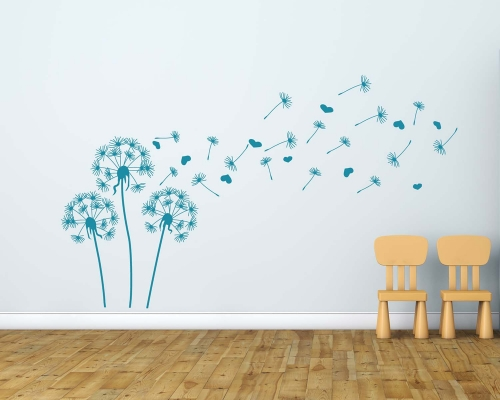 Beautiful Dandelion Flowers Wall Decals