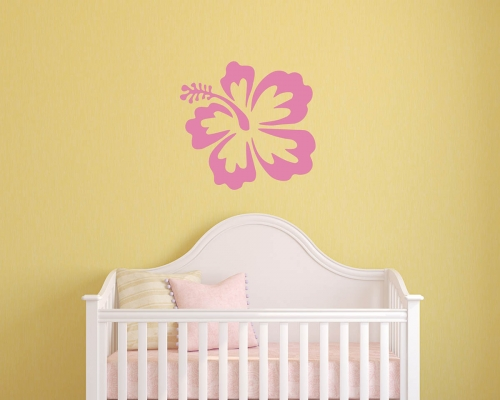 Hibiscus Flowers Wall Decal Sticker