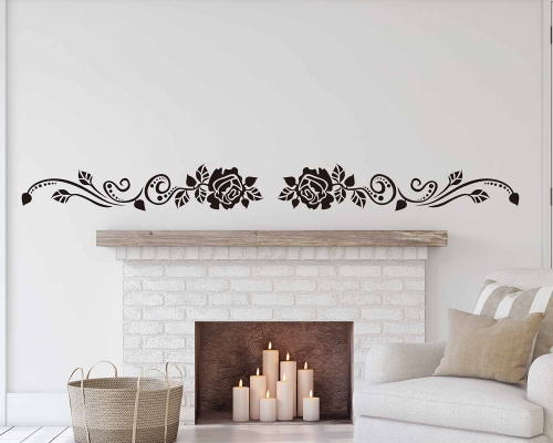 Rose Flowers Vines Wall Decals