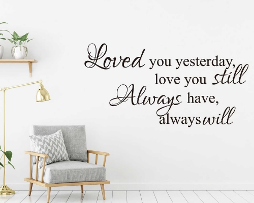 Wall Sticker Quotes  About Love