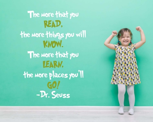 The More That You Read Quotes Wall Decals-Dr. Seuss
