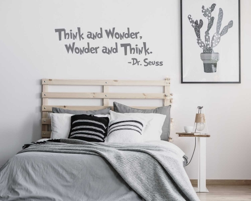 Think and Wonder, Wonder and Think-Dr.Seuss Quotes Wall Decals
