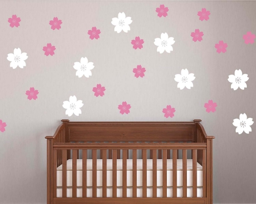 Set Of 93 Flowers Wall Decals-Nursery Wall Decals