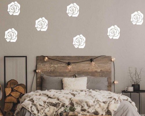 Set Of 20 Roses Stickers Baby Room Wall Decals