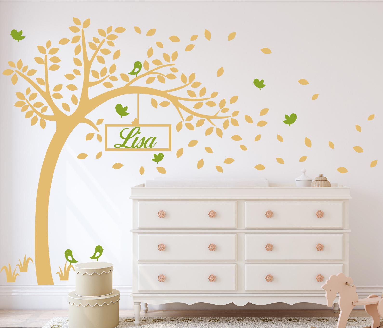 Custom tree wall decal