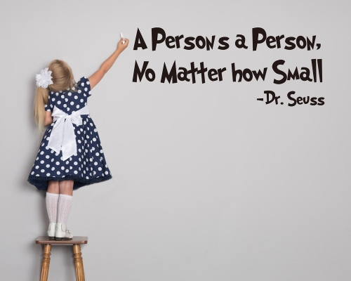 Dr.Seuss Wall Stickers-A Persons A Person,No Matter How Small