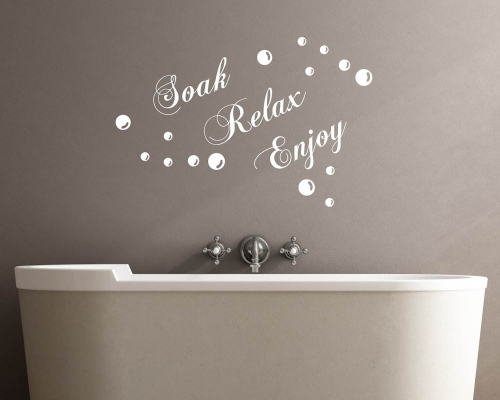 Soak-Relax-Enjoy Quotes Wall Decal