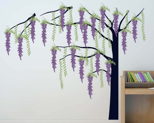 Wisteria Weeping Willow Tree Large Wall Decal