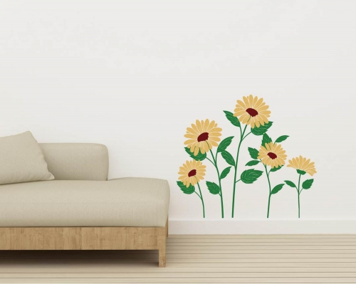 Sun Flowers Floral Wall Decals