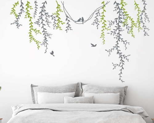 Vine Flower Floral Wall Decal