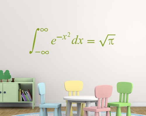 Math Classroom Decal - Quadratic formula - Maths Teacher Decoration - Algebra Class Decor - Teacher Decoration - Math Wall Decal