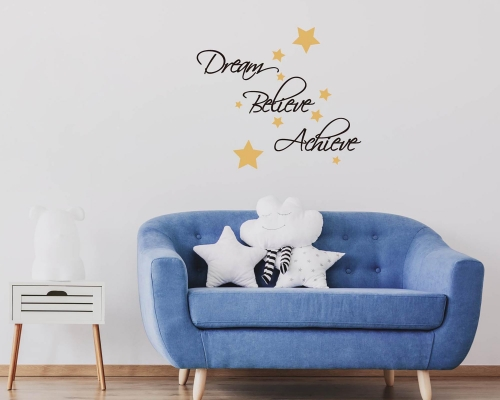 Wall Quotes About Dream Believe Achieve Quote Wall Decal