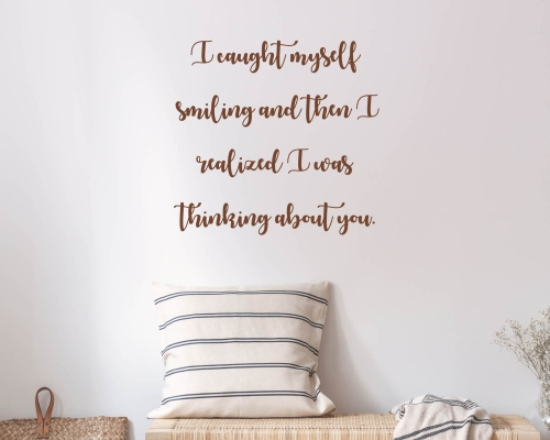 Love Quotes Wall Decal -When I loved you