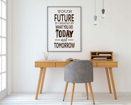 Quotes Wall Decal -You future is created by what you do today not tomorrow