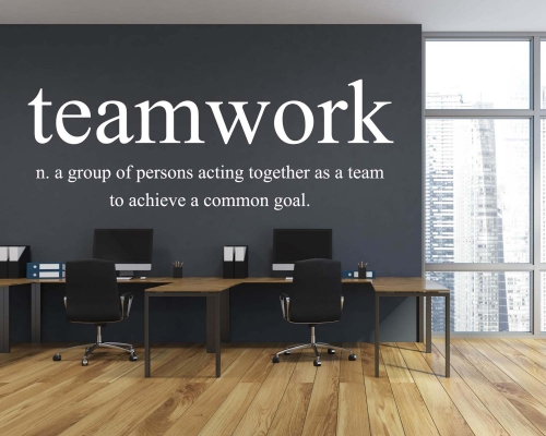 Team Work Wall Quotes Decal For Office