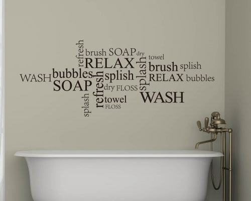 Bathroom Quotes Wall Decals