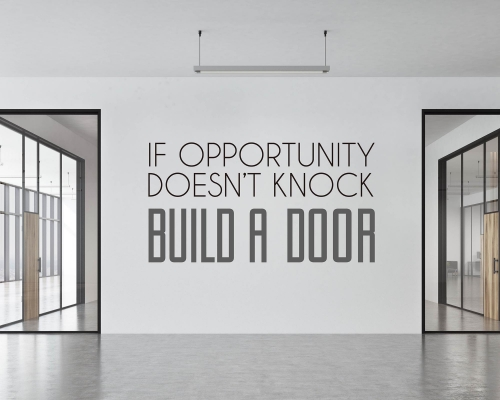 Build a door Wall Quotes  Wall Decals