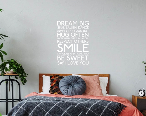 Dream Big I love You  Quotes Wall Decals