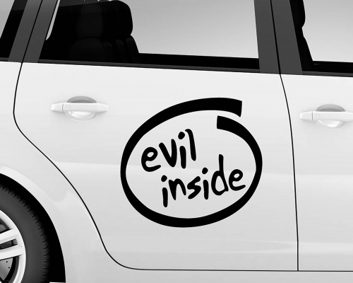 Car Sticker - Evil Inside