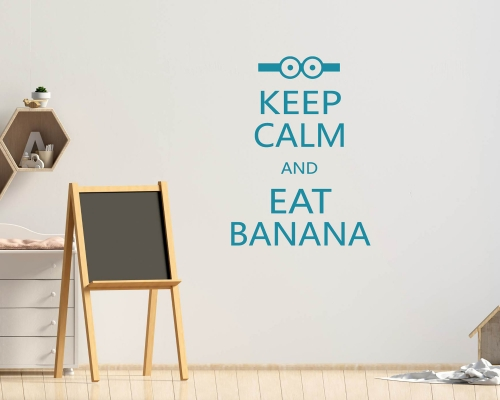 Wall Sticker Quotes Keep Calm and Eat Banana