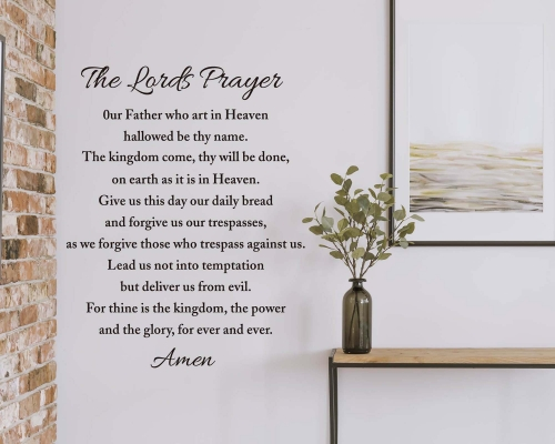 Our Father Lords Prayer Vinyl Wall Decal Sticker Religious God Scripture Pray Amen