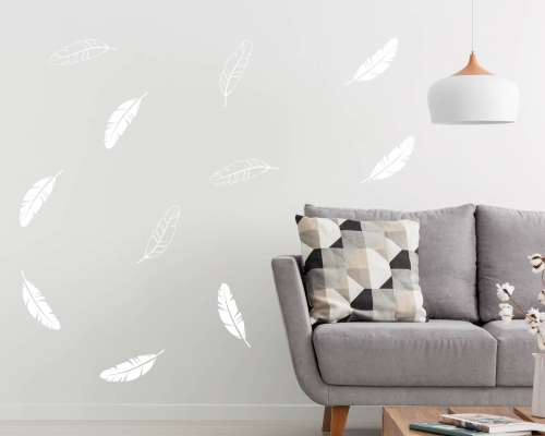 Feather Patterns Wall Stickers