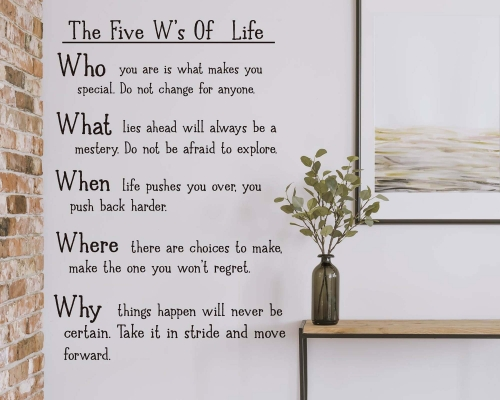 Wisdom of life wall quotes sticker