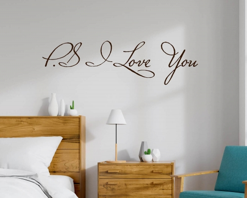 Wall Stickers Quotes P.S I love You