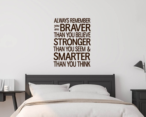 Inspirational quotes wall stickers-You are braver