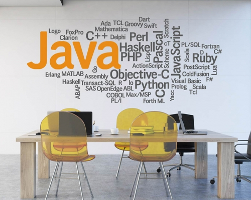 Java script wall decal -computer-OOP Sticker