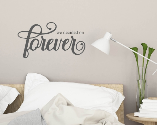 We Decided on Forever  Vinyl Wall Decal Decor Sticker