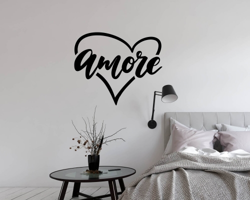 Amore,Italy,Venice Wall Decal, Carnival decor, Mask, Gondola ,Decal Window Sticker Room Vinyl sticker
