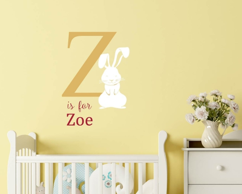 Rabbit Name Wall Stickers