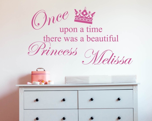 Princess crown Stickers for girl's room