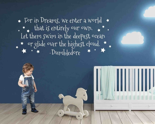 Harry Potter Quotes Wall Sticker-For In Dreams