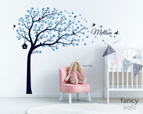 Cherry Blossom Tree with Butterflies - Vinyl Wall Decals