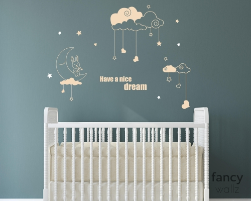 Nursery Wall Decals With Moon