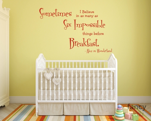 Wall Sticker Quotes Alice In Wondereland