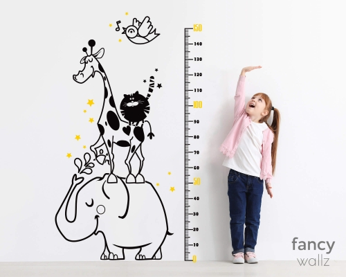 Giraffe Height Wall Stickers