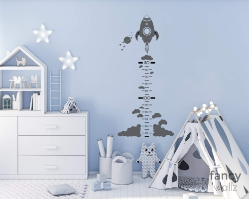 Space Height Wall Stickers