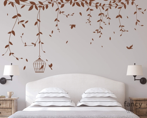 Vine Wall Plant Tree Wall Stickers With Cage