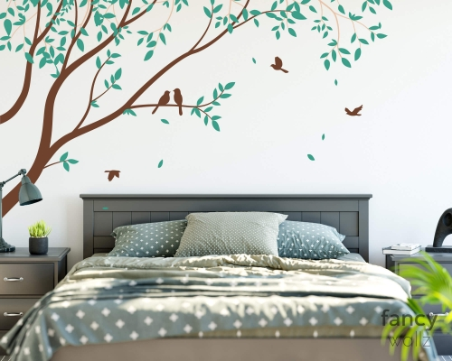 Corner Branch Tree Wall Stickers