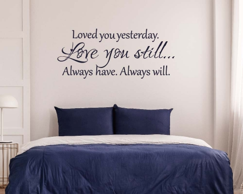 Wall Quotes Stickers - love you still